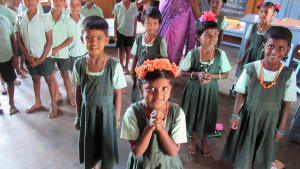 A group of Reaching the Unreached school students
